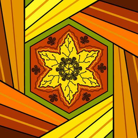 Floral mandala drawing sacred circle background photo