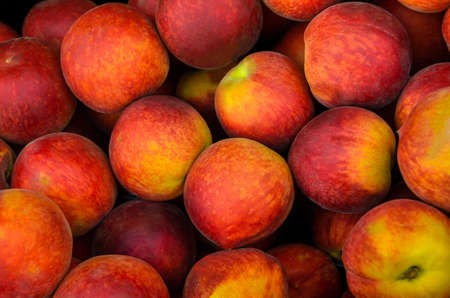 Peaches on a weekly street market stall