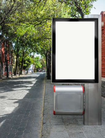 Street blank billboard ready for your advertisement