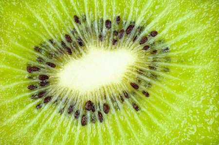 Closeup of juicy Kiwi Fruit  Chinese Gooseberry  photo