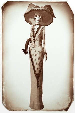 Day of the Dead Catrina Vintage Photo