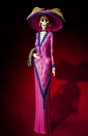 Day of the dead  Traditional mexican catrina skeleton Imagens