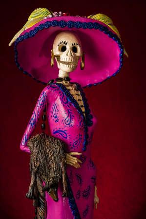 Dag van de doden traditionele Mexicaanse catrina skelet
