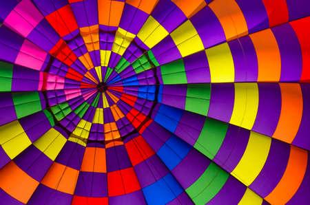 hot air ballon: Multi colored hot air balloon view from inside