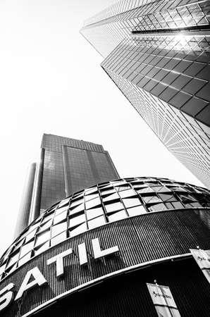 Ciudad de México, México, 02 de marzo 2014 Bolsa Mexicana de Valores o Bolsa Mexicana de Valores, en Paseo de la Reforma en la Ciudad de México Foto de archivo - 30373743
