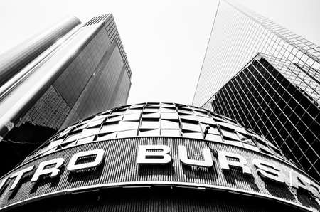 Mexico City, Mexico, March 2, 2014 – Mexican Stock Exchange or Bolsa Mexicana de Valores in Paseo de la Reforma in Mexico City