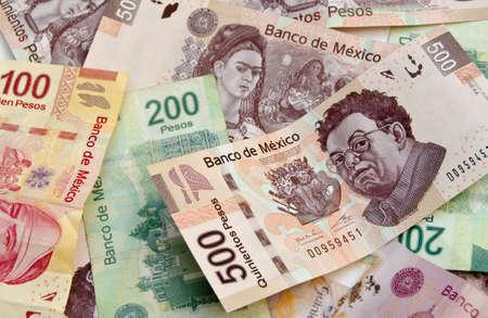 Mexican Pesos, bank notes, currency bills, money background Standard-Bild