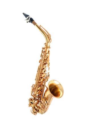 Geïsoleerd altsaxofoon klassiek instrument