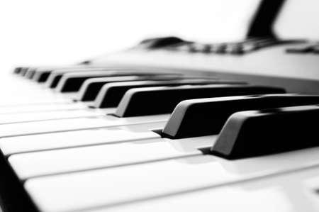 instruments de musique: Piano Keys close up blanc noir