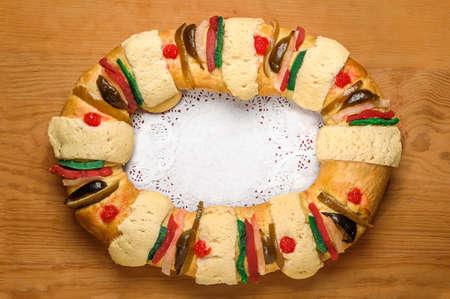エピファニー ケーキ、王のケーキ、Roscon ・ デ ・ レジェス、ロスカ ・ デ ・ レジェス 写真素材