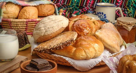 Sweet bread assorted traditional Mexican bakery Imagens