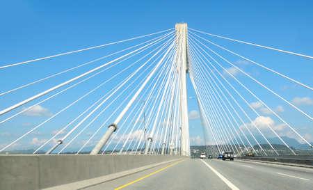 Port Mann Bridge, British Columbia near Vancouver Standard-Bild - 114453922