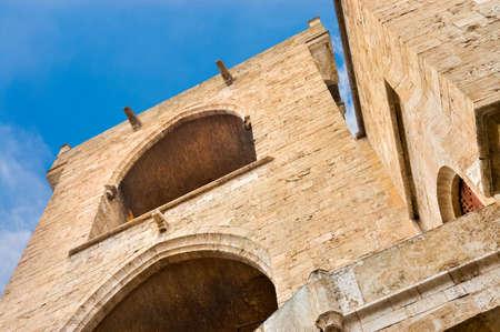 Towers of Quart (Torres de Quart) part of the ancient city wall of Valencia. 新聞圖片