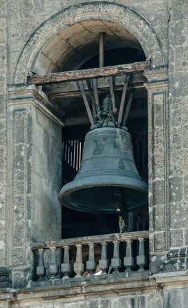La Catedral Bell Tower, Metropolitan Cathedral of the Assumption of Mary of Mexico City. Banque d'images