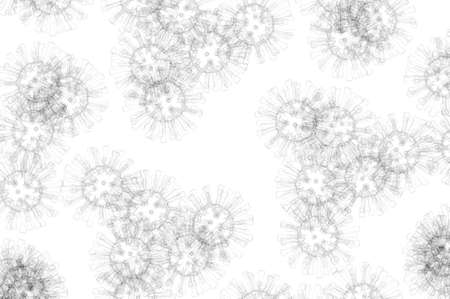 lo Coronavirus COVID-19 illustration background with copy space.
