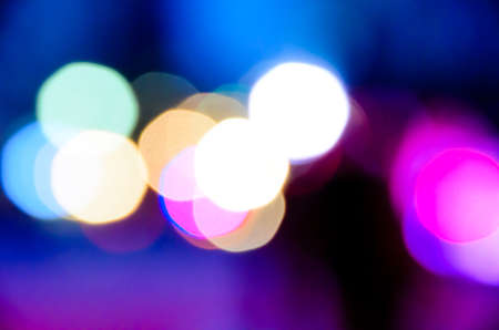 Defocused Color Lights at Night, Abstract Light Bokeh Background