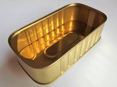 Empty golden can