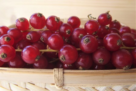 Close up of currants in a basket