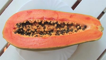 A half of papaya