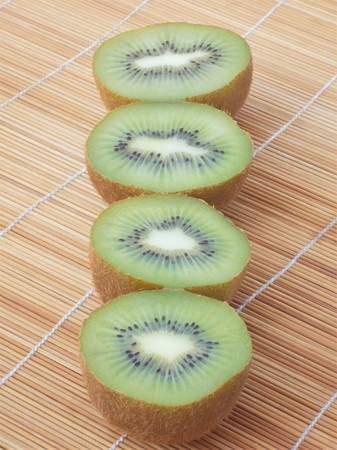 Halves of kiwi 免版税图像