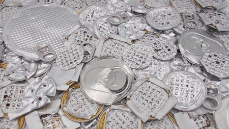 Aluminum pieces for recycling
