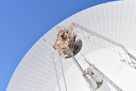 Huge antenna and radio telescope that allow send and receive data from deep space