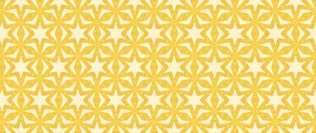 Computer generated image of a geometric golden background which mimics the aesthetics of batik dyeing fabrics. Golden background
