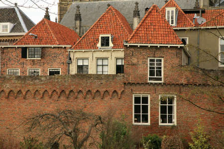 fortified: Zutphen medieval fortified picturesque town in Netherlands.  Stock Photo