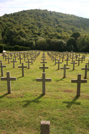Military graveyard of heroes of the First World War - France, Alsace, Vosges Stock Photo - 3712134