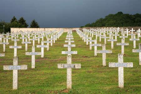 seconda guerra mondiale: Cimitero militare di eroi della prima guerra mondiale - la Francia, l'Alsazia, Vosges Archivio Fotografico