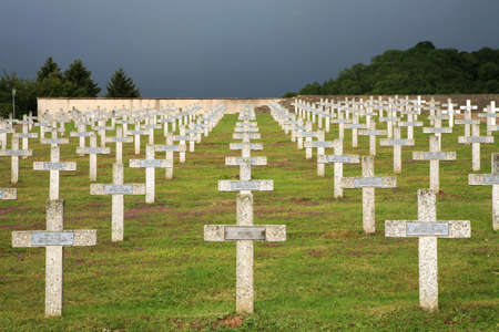 Military graveyard of heroes of the First World War - France, Alsace, Vosges 版權商用圖片