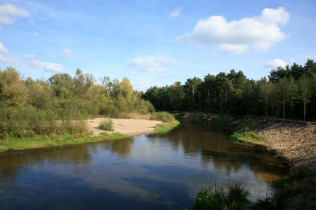 River�s meander  in forest � Polish landscape Stock Photo