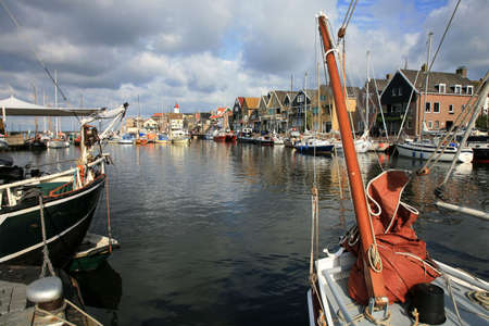 Boats in port - Urk, the Netherlands. Picturesque, small town in Flevoland. photo