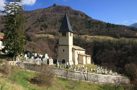 Small church in village � French Alps, France photo