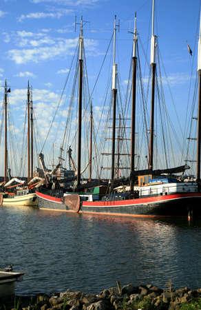 lelystad: Tjalk, Traditional Dutch boat � Lelystad, Flevoland, Netherlands