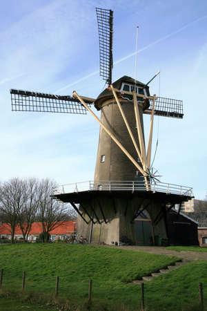 traditional windmill: Old , traditional windmill in The Hague � Netherlands.