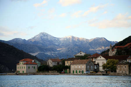 View on small town in Montenegro and Balkans Mountains range. Stock Photo - 4595361