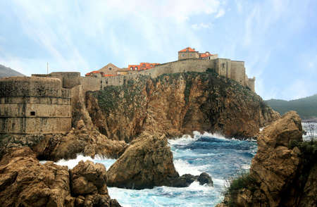 Dubrovnik – commercial city fortress, unconquer. As the Phoenix it revived after all cataclysms: plague, earthquakes, frequent wars. Croatia, Dalmatia. Stock Photo