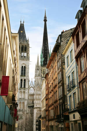 Notre Dame Cathedral in Rouen, France. One of painting motives for Monet.