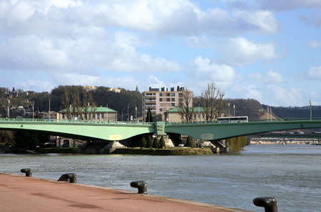 ruffling: The Pont Corneille is a bridge over the Seine in Rouen (Normandy) in France.