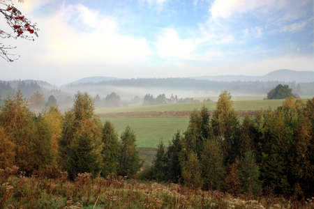 gory: Famous National Park in Poland Table Mountains ( Gory Stolowe).
