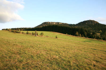 gory: Famoso parco nazionale in Polonia Table Mountains (Gory Stolowe).