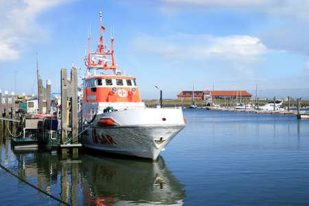 Suche und Rescue ? SAR - Boot auf Deutsch Nordsee bereit für die Aktion.