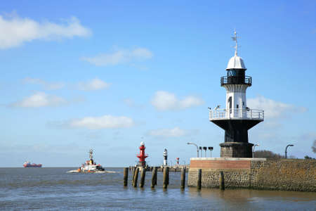 Lighthouses  - light buoys - at entering the Kiel Canal