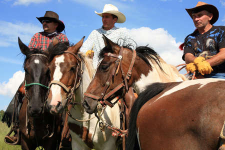 Pasterka, Poland June 08: A three-day horse ride western style, organized by the stables in Nowa Ruda Overo on 08,2012 in Pasterka, Poland.