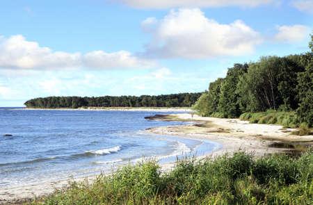 Famous beaches in South Bornholm Island – Snogebaek, Denmark 版權商用圖片