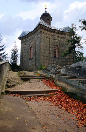 Hvezda chapel in Table Mountains, Czech Republic photo