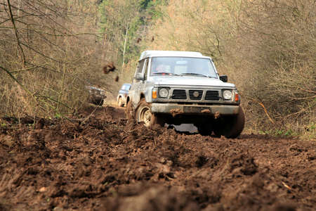 Off-road 4x4 lifestyle and hobby  Blur motion  Stock Photo