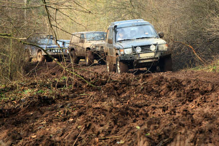 4x4: Off-road 4x4 lifestyle and hobby  Blur motion  Stock Photo
