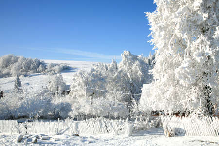 Picturesque village Pasterka landscape in white winter  Poland photo
